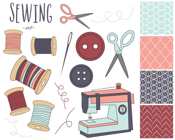 Free supplies cliparts download. Sewing clipart sewing material