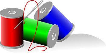 Free clip art picture. Sewing clipart spool thread