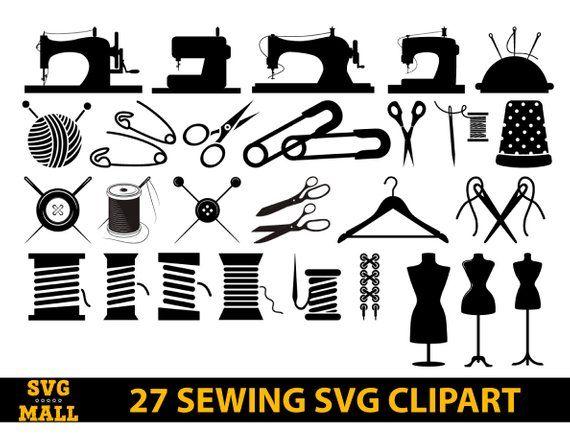 Sewing clipart svg. File machine cut