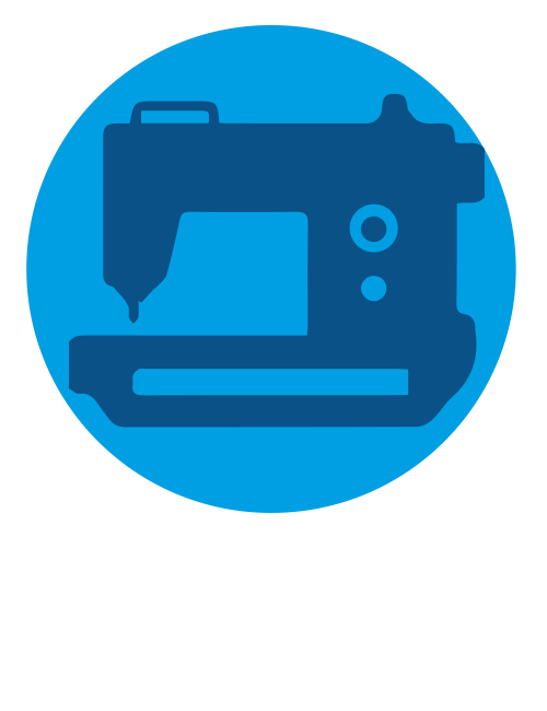Net machines products. Sewing clipart useful material
