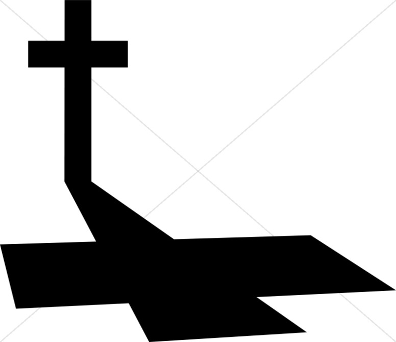 Long on good friday. Shadow clipart