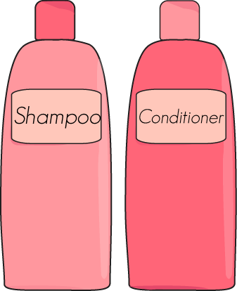 And conditioner . Shampoo clipart