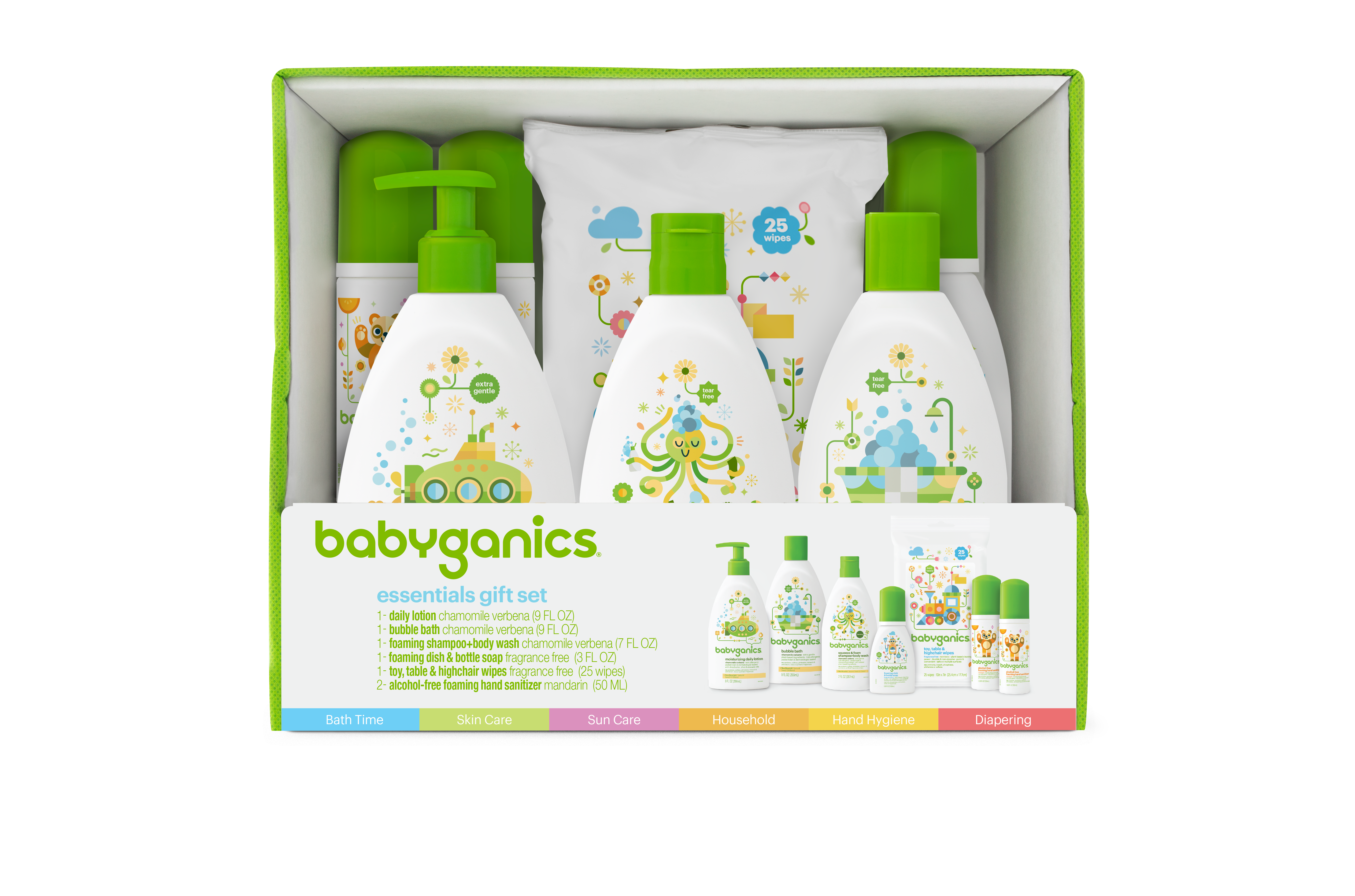 Babyganics essentials gift set. Shampoo clipart baby wash
