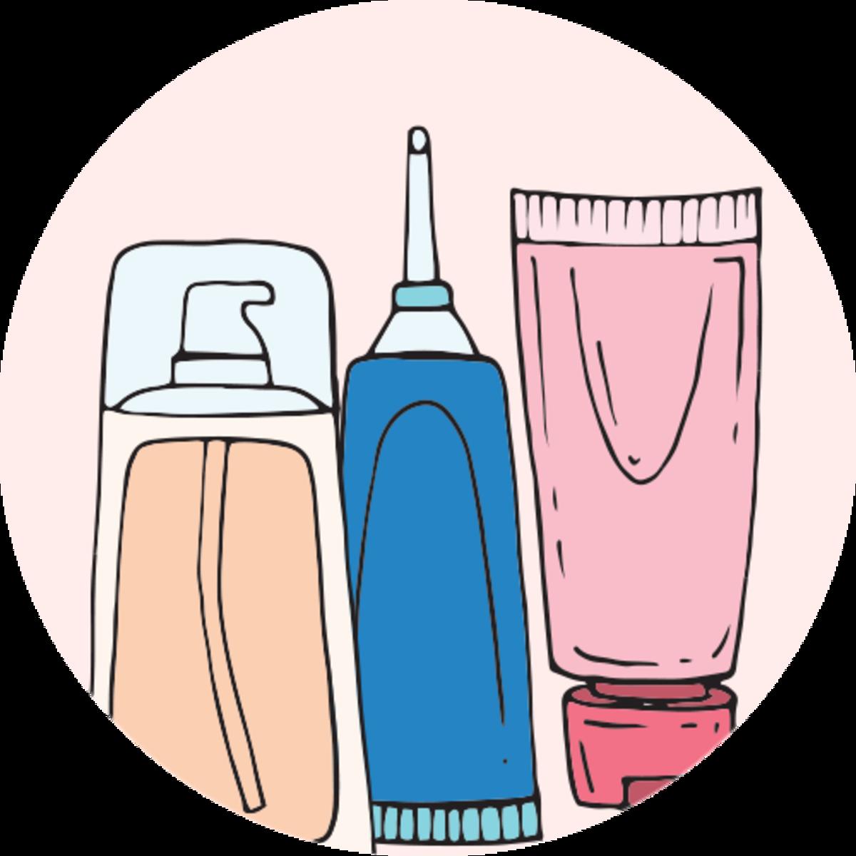 El cuidado de la. Skin clipart skin cream