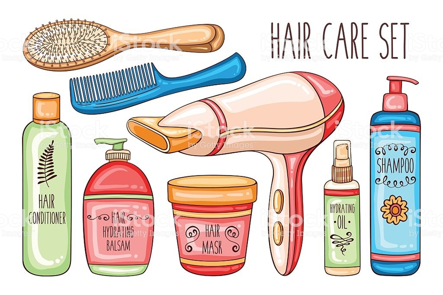 Download products comb clip. Shampoo clipart hair care product