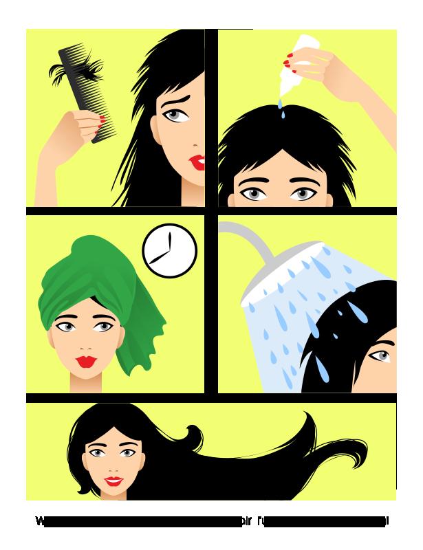 Care wellux korea lavender. Shampoo clipart healthy hair