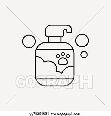 Eps illustration pet icon. Shampoo clipart line