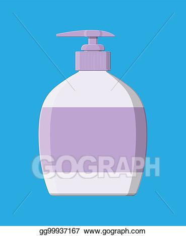 Shampoo clipart liquid thing. Vector art bottle with