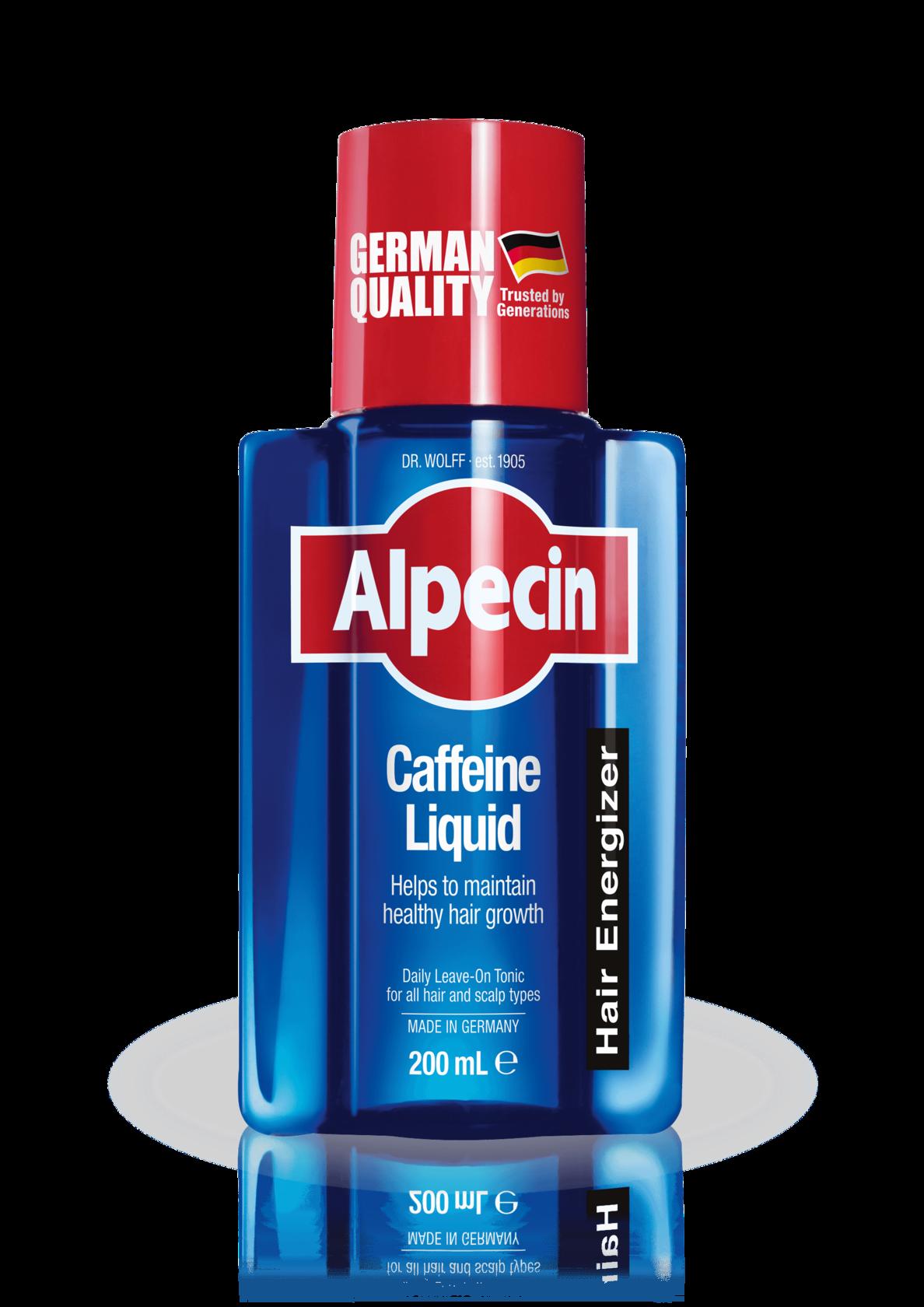 Shampoo clipart liquid thing. Alpecin caffeine helps to