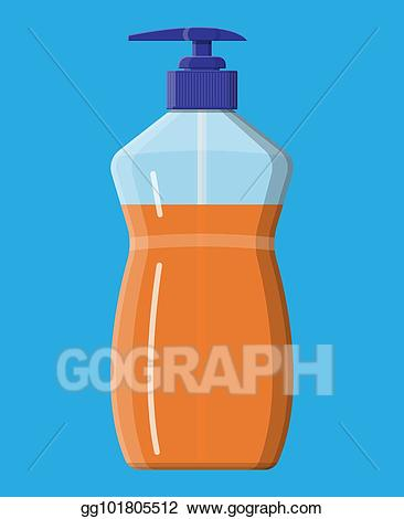 Vector art bottle with. Shampoo clipart liquid thing