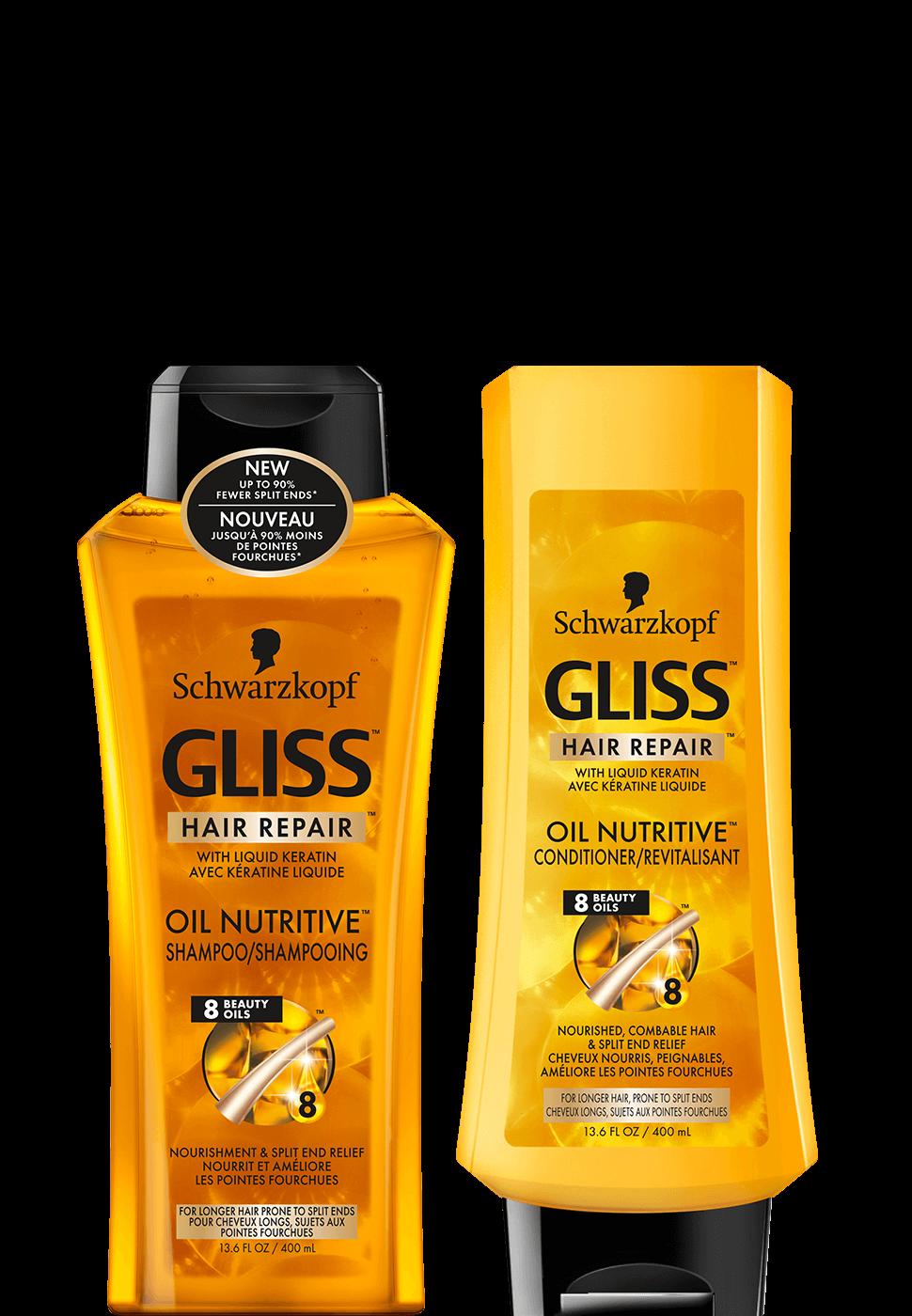 Shampoo clipart oily hair. Gliss kur prachtvolle krftigung