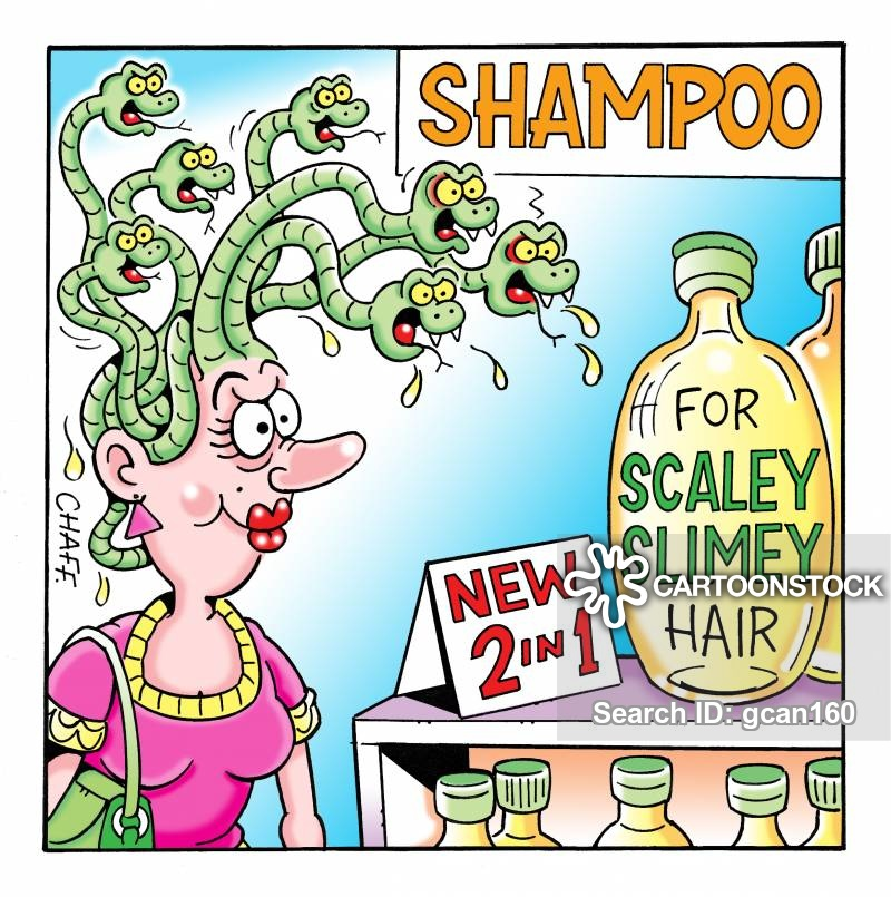 Greasy cartoons and comics. Shampoo clipart oily hair