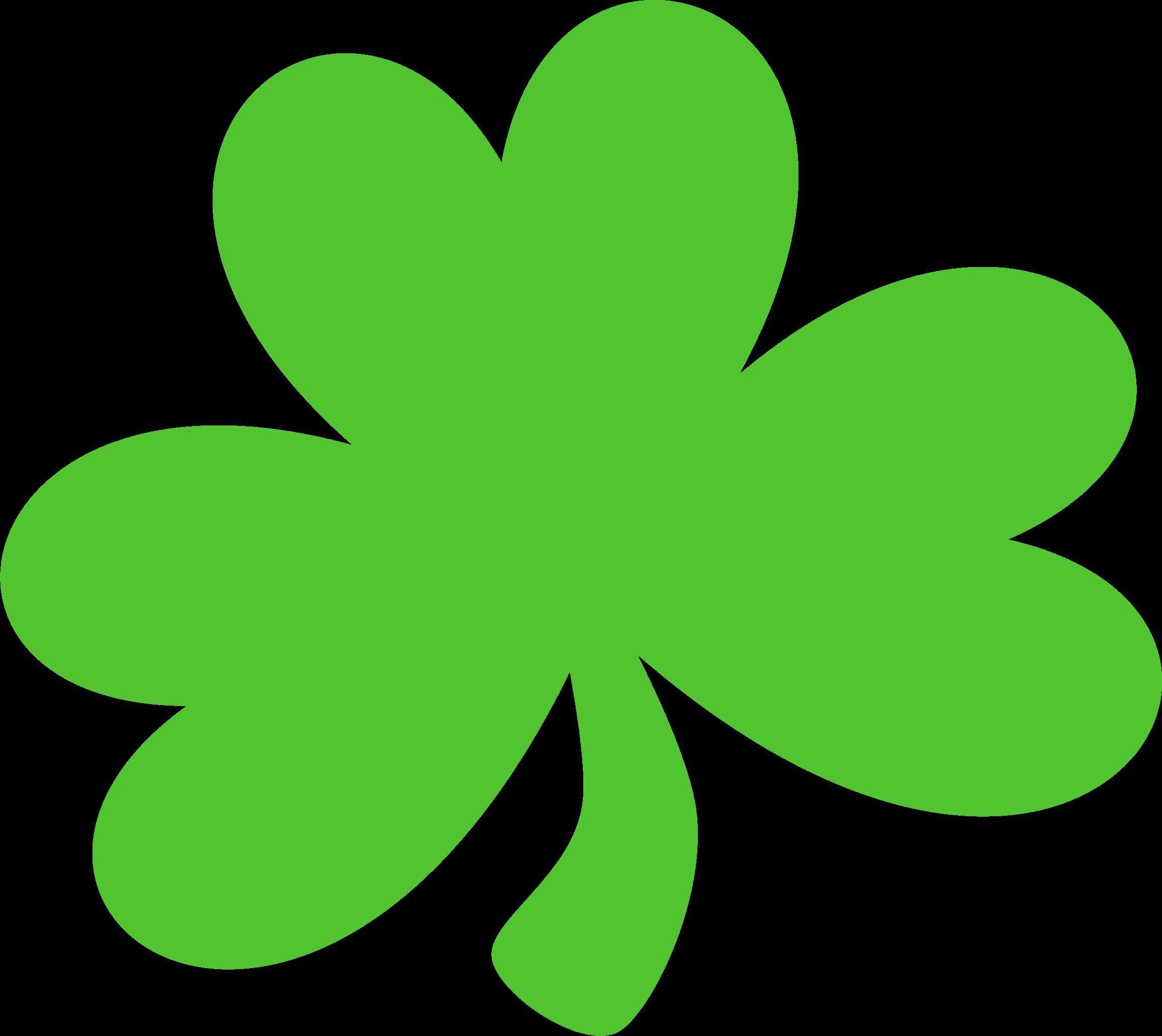 Dark green big image. Irish clipart shamrock