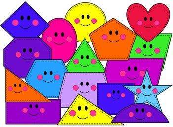 Kidsrcute by creative lesson. Shapes clipart