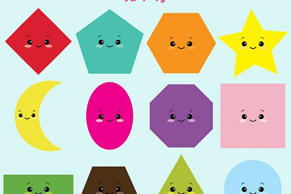 Kawaii by fantasy clipar. Shapes clipart