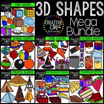 Shapes clipart creative.  d bundle clips
