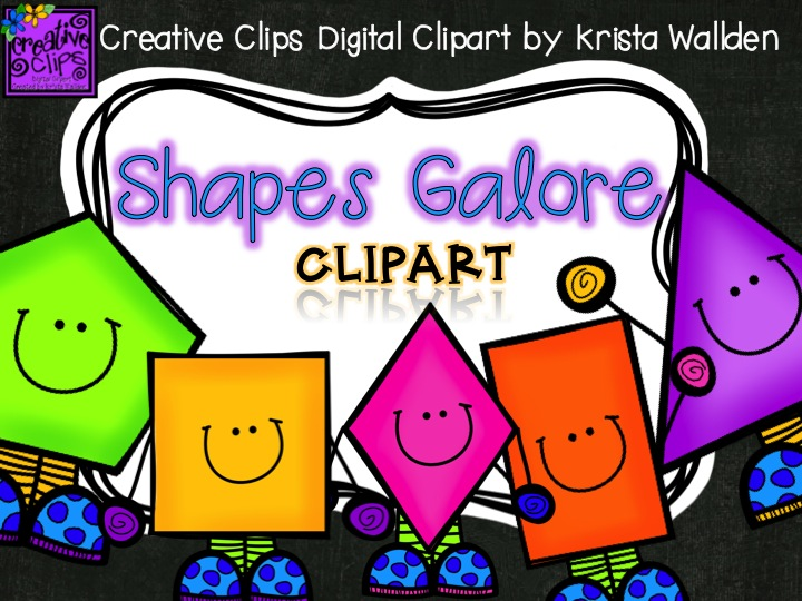 The chalkboard free puzzle. Shapes clipart creative