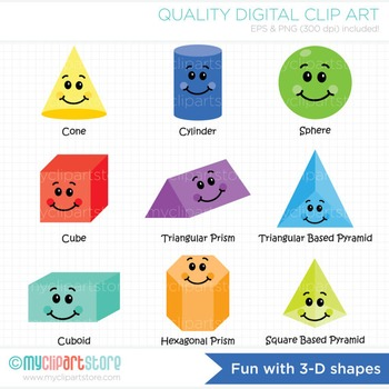 Shapes clipart fun. With d back to
