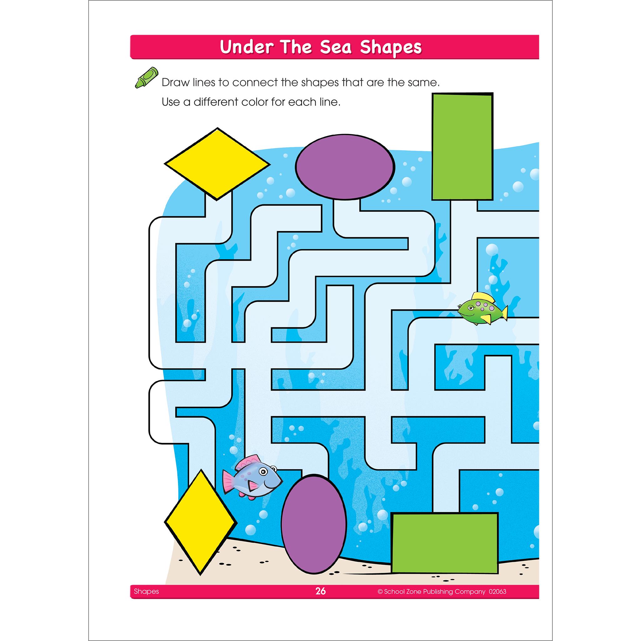 Shapes clipart fun. This workbook helps preschoolers