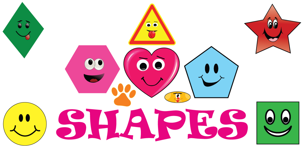Shapes clipart fun. Toddler education gamenica