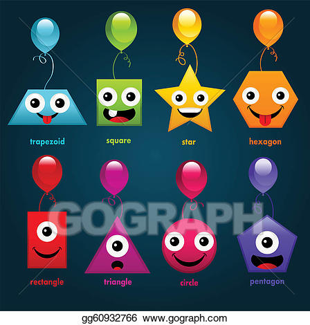 Eps vector party stock. Shapes clipart fun