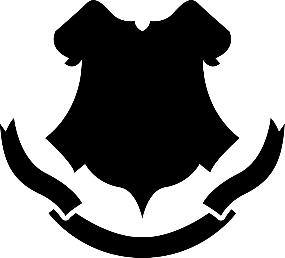 Black shape with a. Shapes clipart shield
