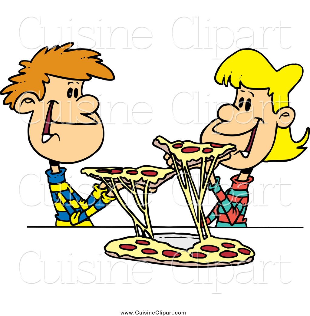 Cuisine of a young. Sharing clipart