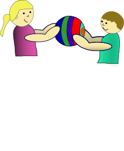 Sharing clipart. Nlyl children a ball