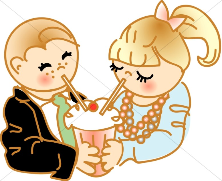 Sharing clipart. Soda cartoon christian children