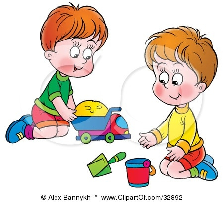 Sharing clipart. Kids toys printable and