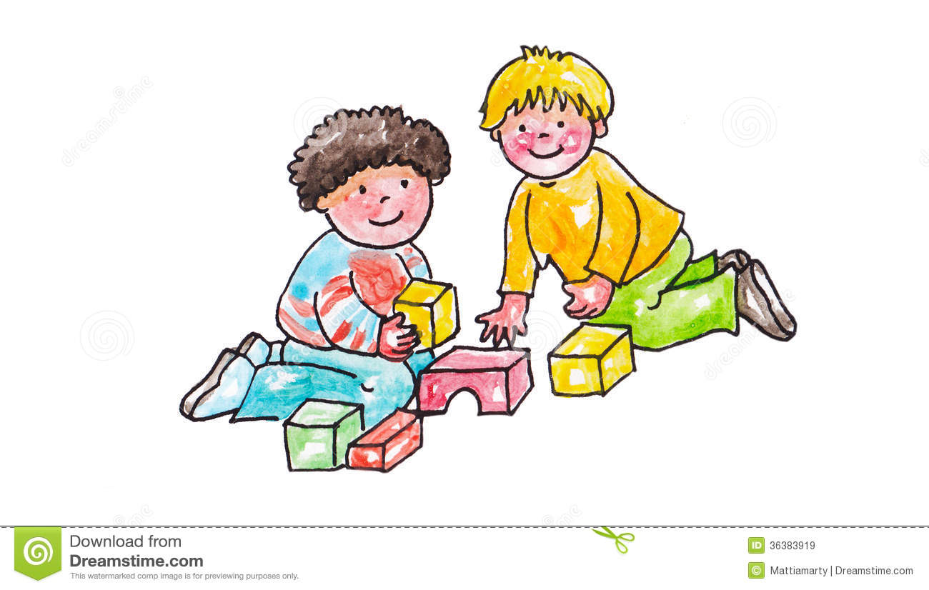Sharing clipart. Toys