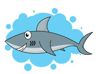 Clipart shark shark swimming. Free clip art pictures