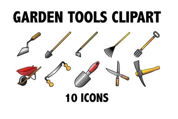 Pin on handyman . Shears clipart gardening rake