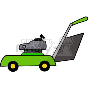 Green mower royalty free. Shears clipart lawn tool