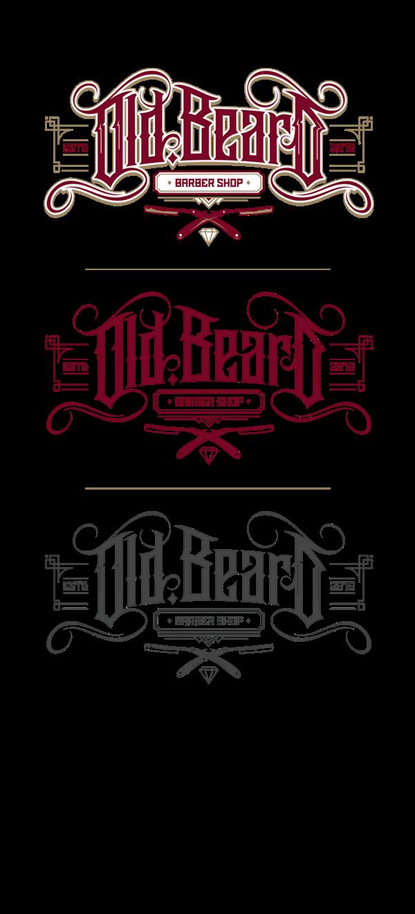 Beard shop logo on. Shears clipart old school barber