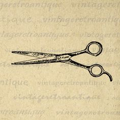 best antique hair. Shears clipart old school barber