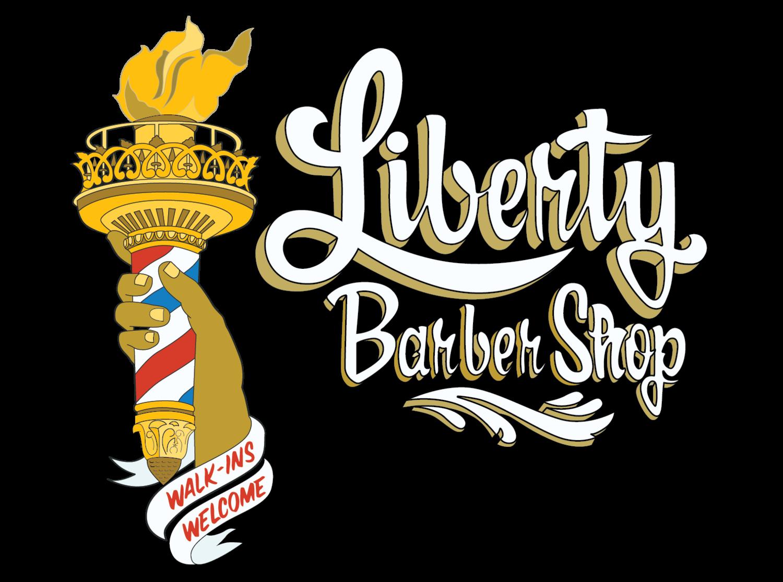 Liberty shop . Shears clipart old school barber