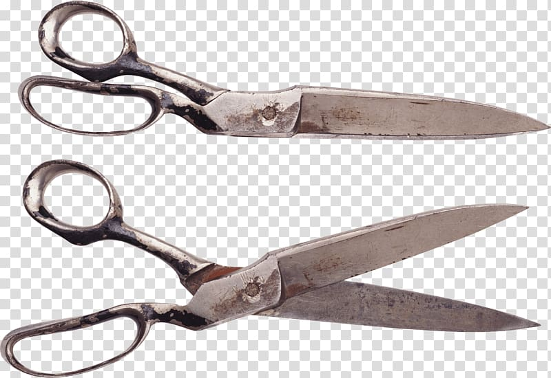 Shears clipart pair scissors. Two gray steel collage