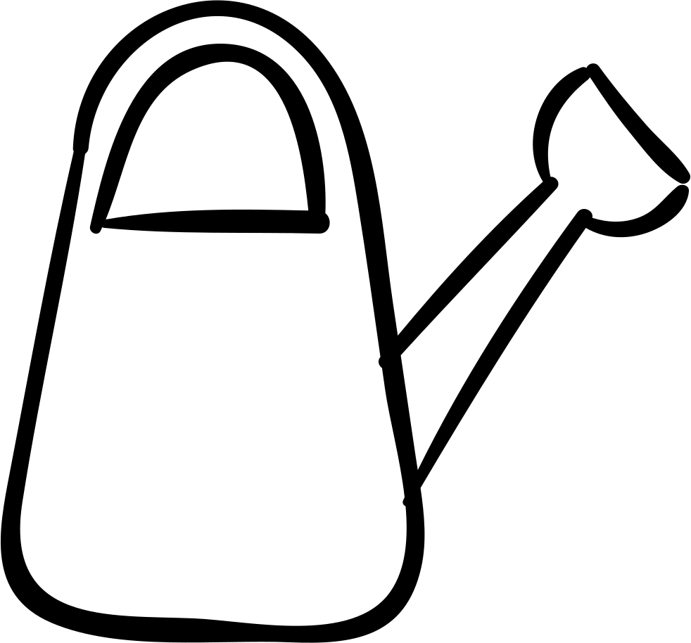 Garden tool watering cans. Shears clipart shovel