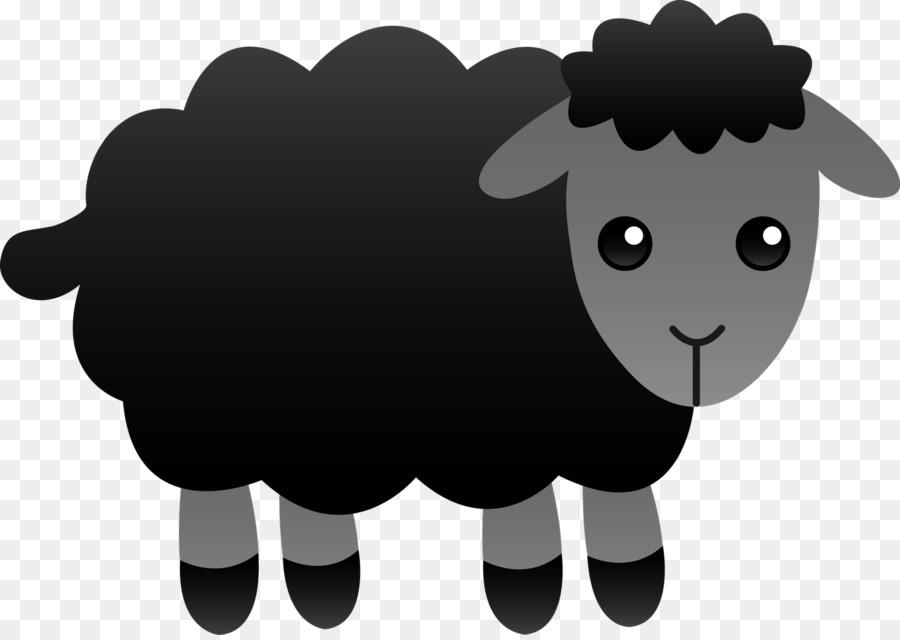 Sheep clipart. Baa black wool clip