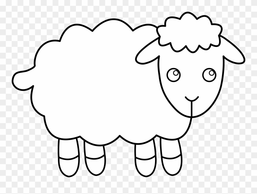Lamb clip art outline. Clipart sheep sheep drawing