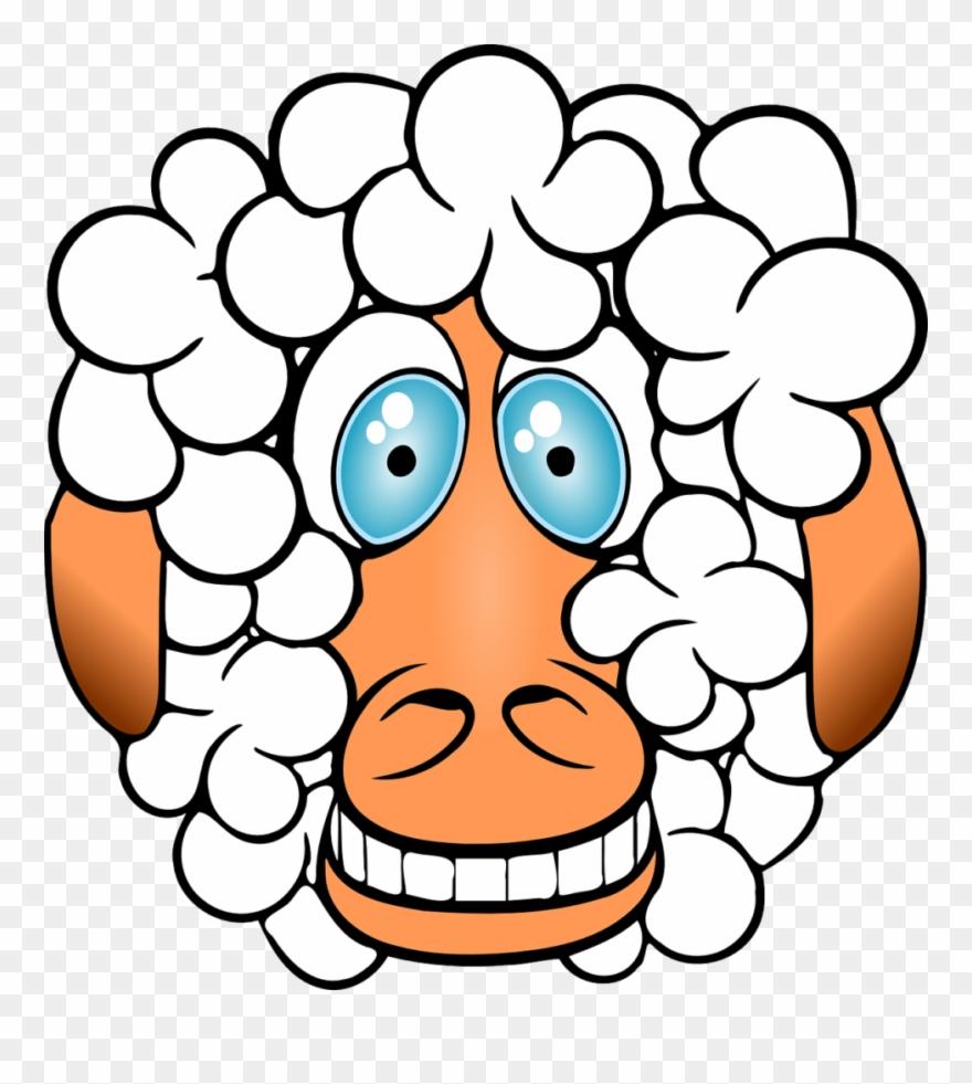 Sheep clipart crazy. Grinning funny comical cartoon