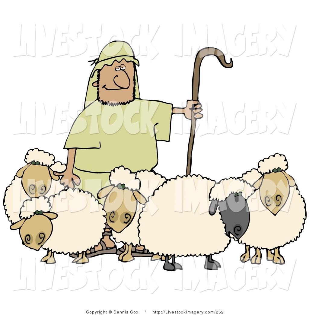 Sheep clipart man. Clip art of a