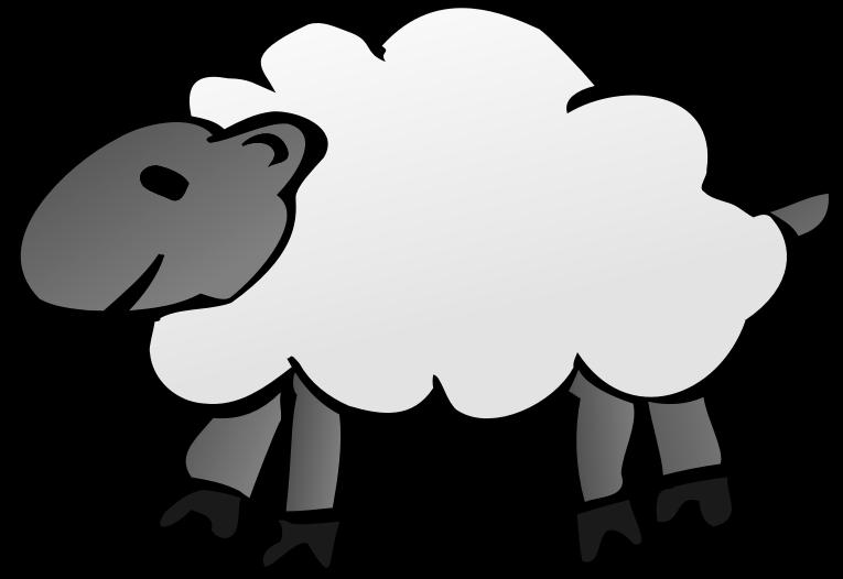 Sheep clipart man. Cartoon clipartblack com animal