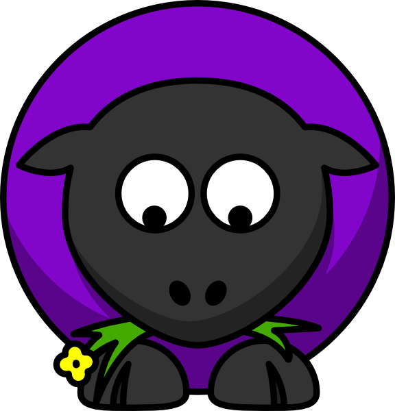 Looking up clip art. Sheep clipart purple