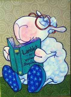 Sheep clipart reading. Free download clip art