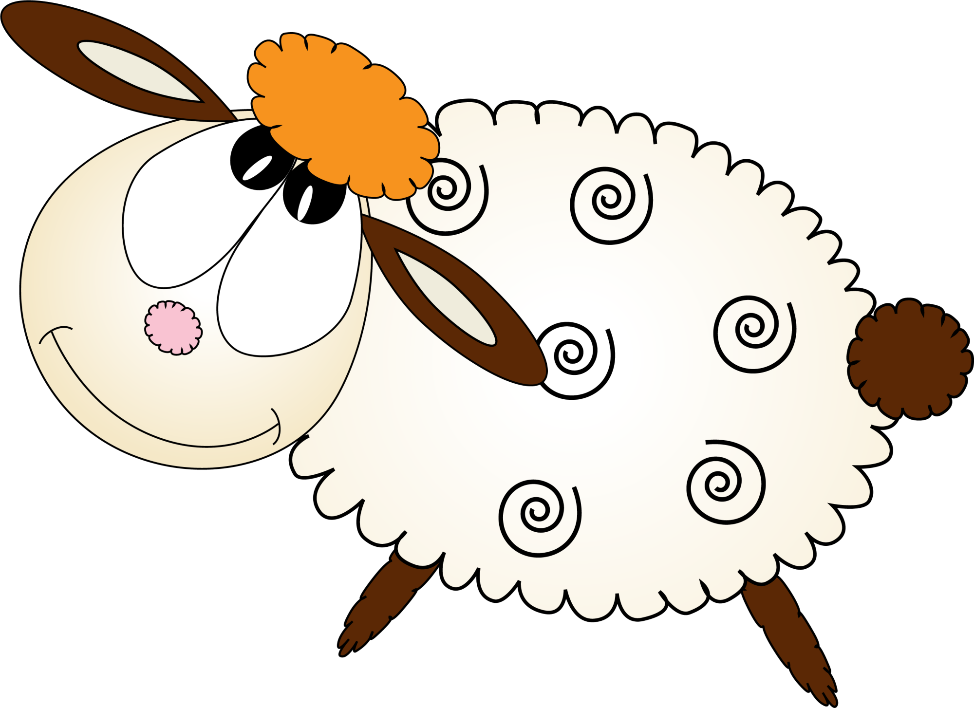 Sheep clipart sheep drawing. Agneau clip art yellow