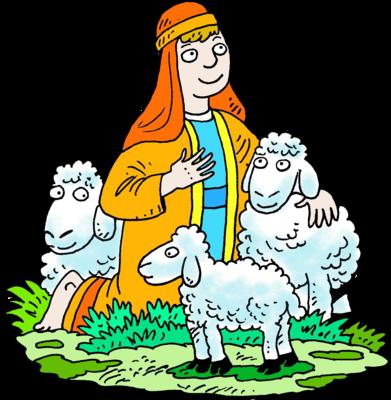 Sheep clipart shepherd. Image kneeling white three