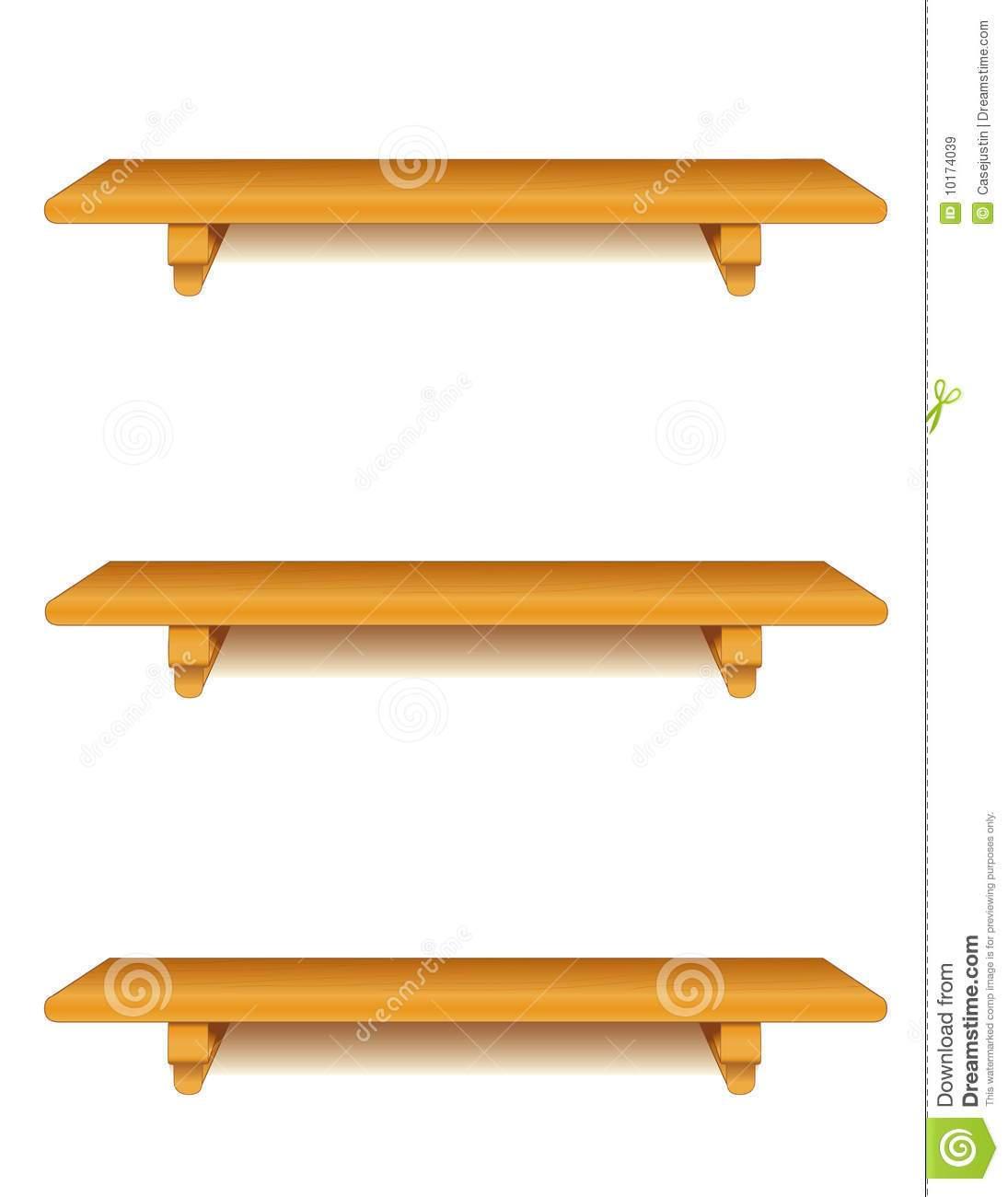 Wooden shelf empty shelves. Bookshelf clipart shelving