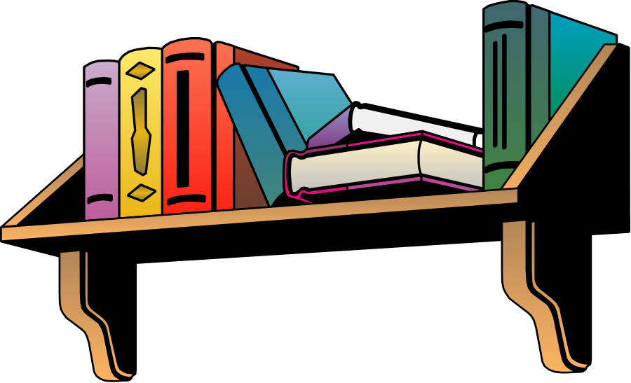 Furniture clipart bookshelf. Shelf station
